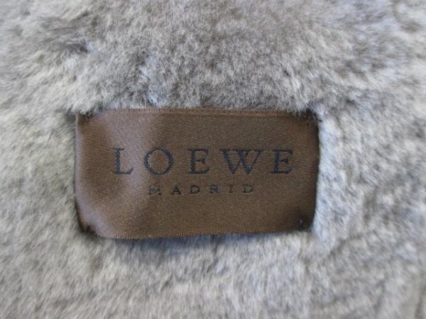 LOEWE(ロエベ) コート レディース 42 グレーベージュ ムートン 5