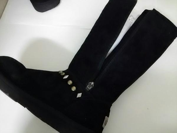 美品 UGG(アグ) ブーツ AVONDALE レディース 黒×シルバー×ゴールド 5
