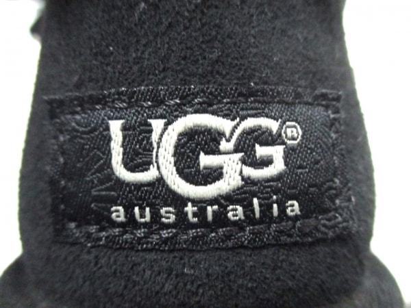 UGG(アグ) ショートブーツ ミニベイリーボウ レディース 黒 ムートン 6
