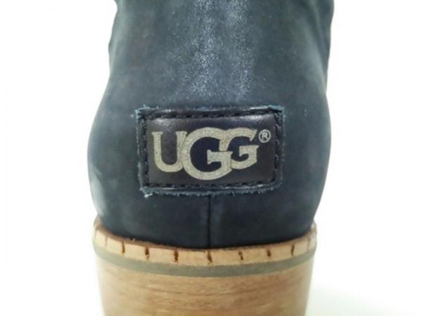 美品 UGG(アグ) ロングブーツ レディース 黒 レザー 5