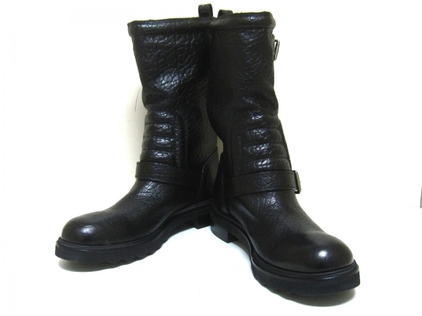 ルイヴィトン ブーツ 11 メンズ 黒 ペコスブーツ レザー 0