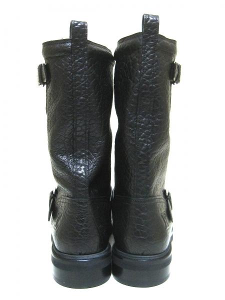 ルイヴィトン ブーツ 11 メンズ 黒 ペコスブーツ レザー 3