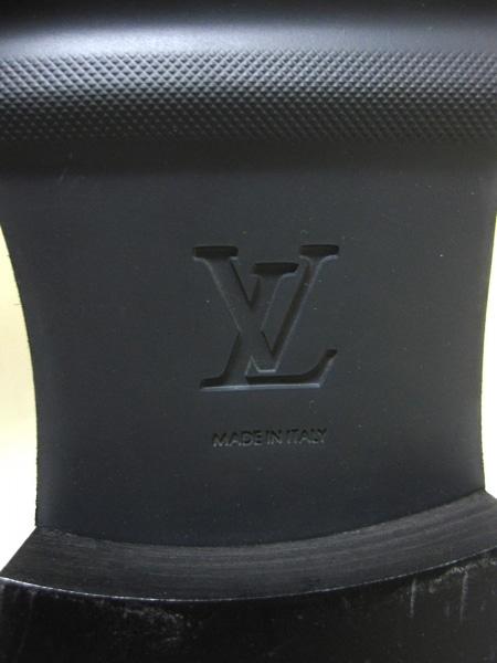 ルイヴィトン ブーツ 11 メンズ 黒 ペコスブーツ レザー 5