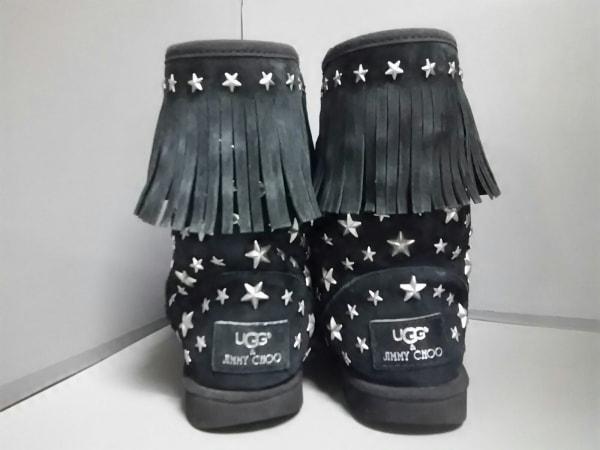 UGG(アグ) ショートブーツ ジミーチュウ レディース 黒×シルバー 3