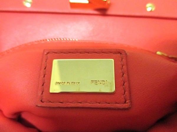 フェンディ ハンドバッグ ミニピーカブー 8BN244 ピンク レザー 6