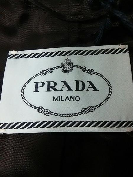 プラダ コート 38 レディース 新品同様 黒 冬物 PRADA 3