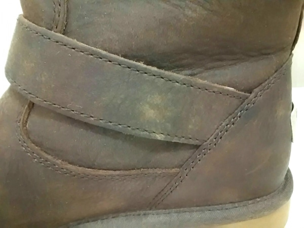 UGG(アグ) ブーツ ケンジントン レディース ダークブラウン レザー 8