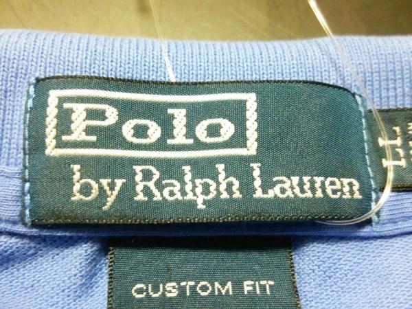 ポロラルフローレン 半袖ポロシャツ LL メンズ ブルー×オレンジ 3