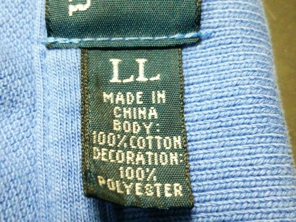 ポロラルフローレン 半袖ポロシャツ LL メンズ ブルー×オレンジ 4