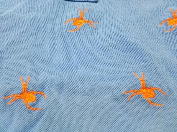 ポロラルフローレン 半袖ポロシャツ LL メンズ ブルー×オレンジ 7