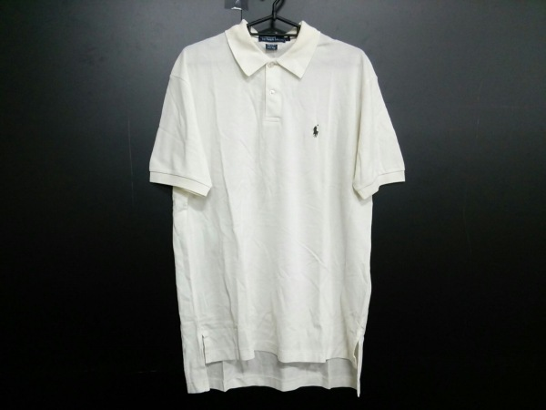 ポロラルフローレン 半袖ポロシャツ L メンズ アイボリー 0