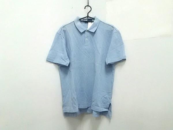 ポロラルフローレン 半袖ポロシャツ L メンズ美品  ライトブルー 0