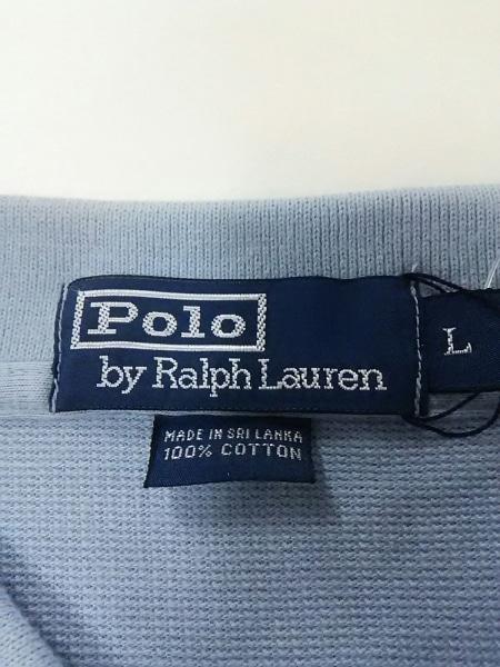 ポロラルフローレン 半袖ポロシャツ L メンズ美品  ライトブルー 3