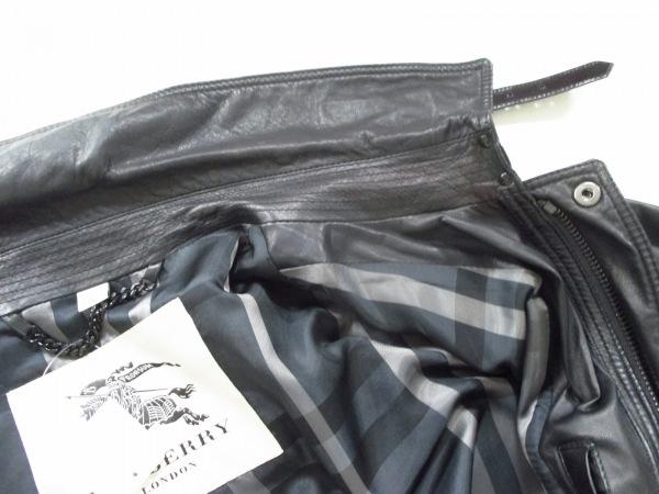 バーバリープローサム ブルゾン 52 メンズ 黒 レザー/春・秋物 7