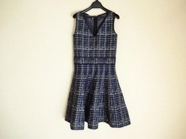 プラダ ワンピース 40S レディース 美品 ブルー×黒×白 PRADA 0