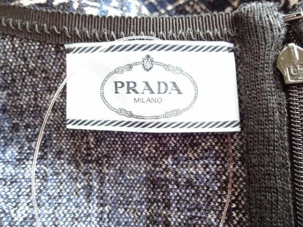 プラダ ワンピース 40S レディース 美品 ブルー×黒×白 PRADA 3
