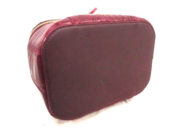 コッコクリスターロ バニティバッグ 美品 ボルドー クロコダイル 4