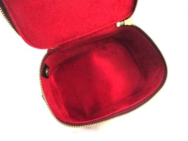 コッコクリスターロ バニティバッグ 美品 ボルドー クロコダイル 5