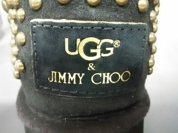 UGG(アグ) ロングブーツ JPN25 レディース 黒×ゴールド×シルバー 5