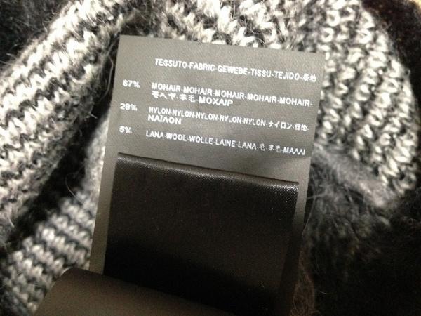 サンローランパリ 長袖セーター M レディース 黒×ライトグレー 4