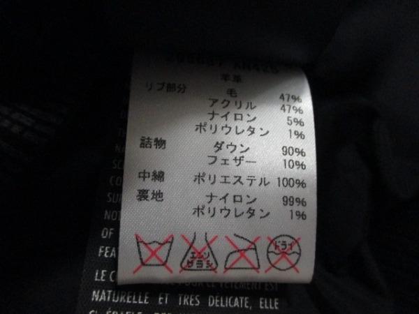 グッチ ダウンベスト 50 メンズ 美品 黒 ラムレザー/春・秋物 4