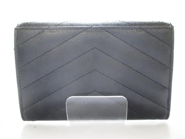 サンローランパリ 財布 美品 414404 黒 レザー 2