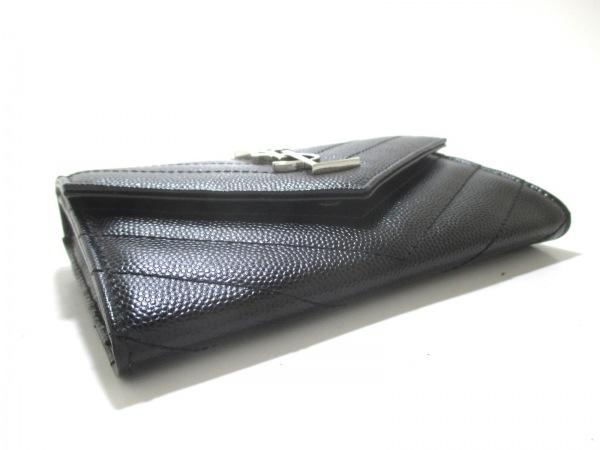 サンローランパリ 財布 美品 414404 黒 レザー 3