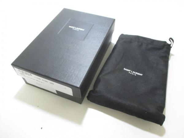 サンローランパリ 財布 美品 414404 黒 レザー 8