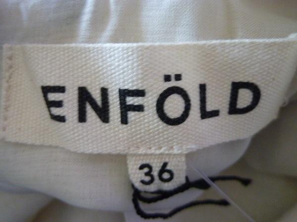 エンフォルド ワンピース 36 レディース 美品 アイボリー×黒 3