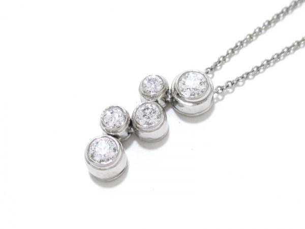 ティファニー ネックレス 美品 バブルネックレス 5Pダイヤ 0