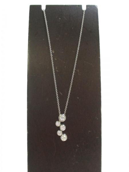 ティファニー ネックレス 美品 バブルネックレス 5Pダイヤ 2