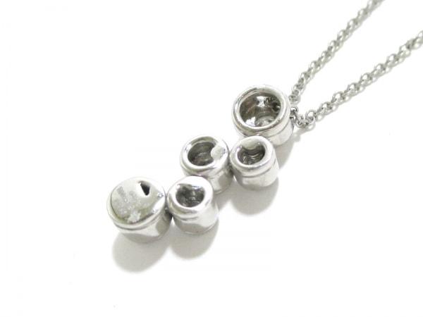 ティファニー ネックレス 美品 バブルネックレス 5Pダイヤ 3