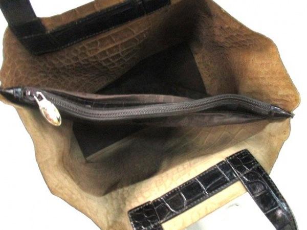 フルラ トートバッグ 黒 型押し加工 レザー FURLA 5