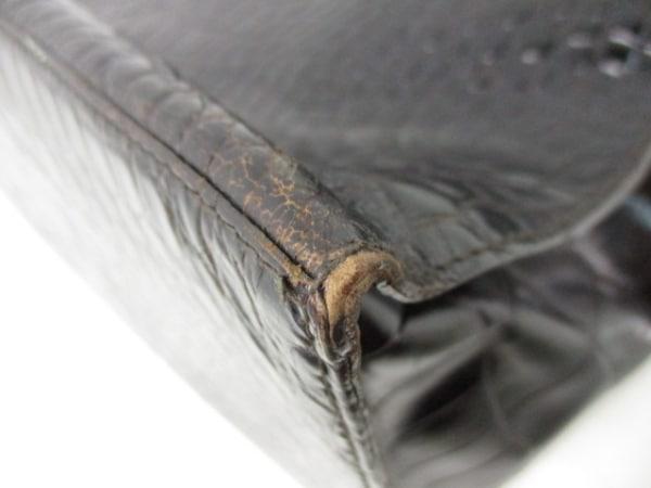 フルラ トートバッグ 黒 型押し加工 レザー FURLA 8
