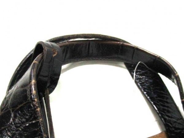 フルラ トートバッグ 黒 型押し加工 レザー FURLA 9