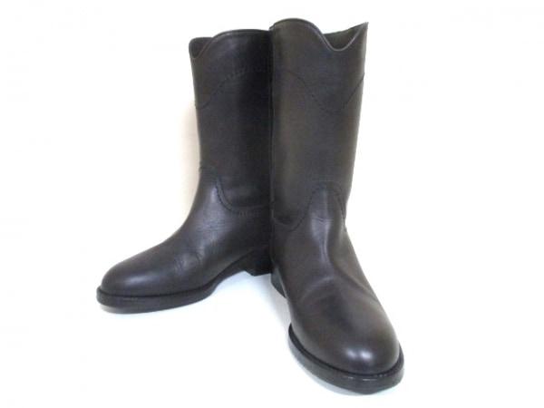 シャネル ブーツ 36 1/2 レディース 美品 G26068 ダークブラウン 0