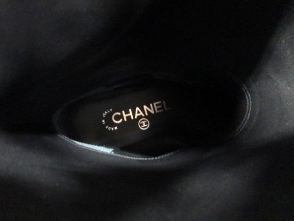 シャネル ブーツ 36 1/2 レディース 美品 G26068 ダークブラウン 5
