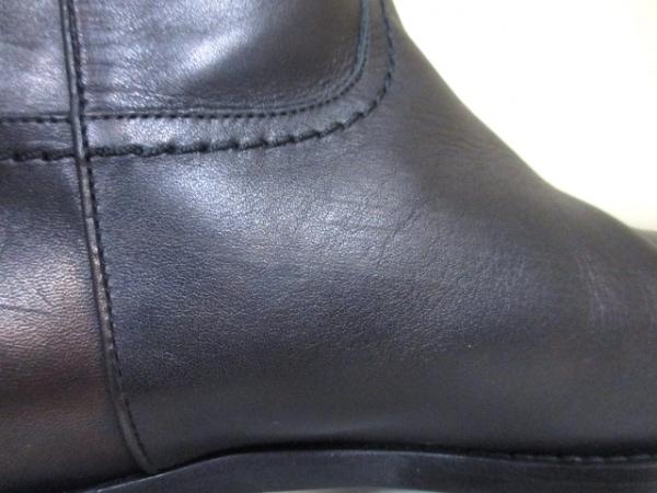 シャネル ブーツ 36 1/2 レディース 美品 G26068 ダークブラウン 7