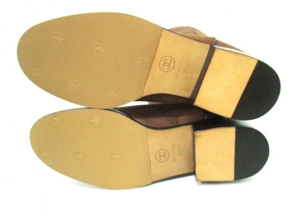 シャネル ブーツ 36 1/2 レディース 美品 G26068 ブラウン 4