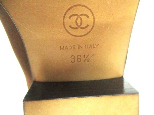 シャネル ブーツ 36 1/2 レディース 美品 G26068 ブラウン 6