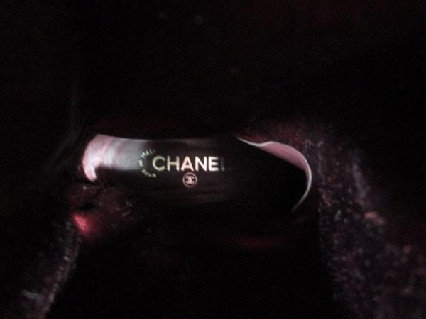 シャネル ロングブーツ 36 レディース 美品 G26069 黒 レザー 5