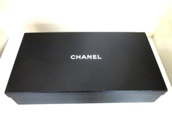 シャネル ロングブーツ 36 レディース 美品 G26069 黒 レザー 7