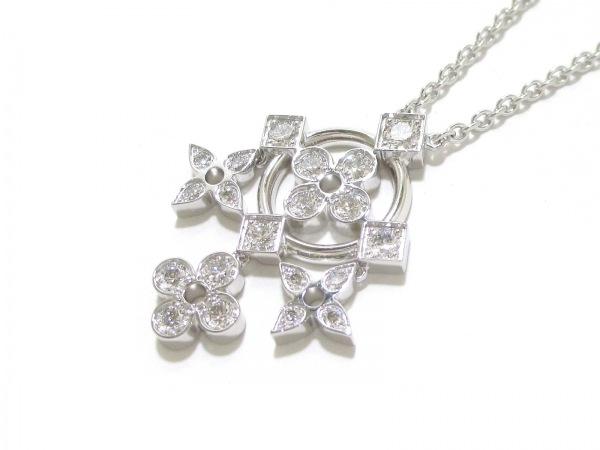 磨き済み ルイヴィトン ネックレス 美品 K18WG×ダイヤモンド 0