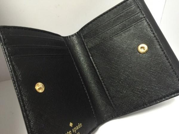 ケイトスペード Wホック財布 新品同様 PWRU4448 黒 レザー 3