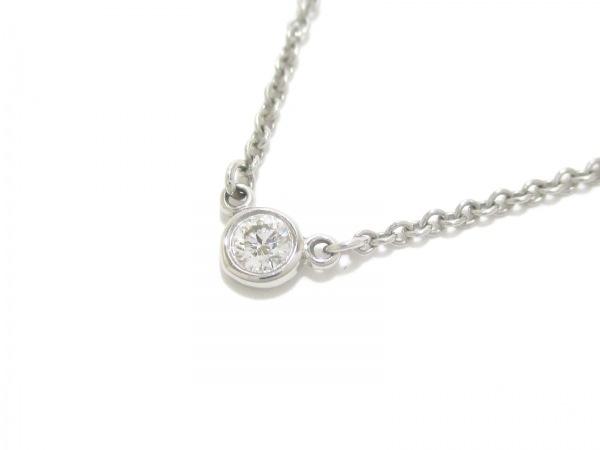 ティファニー ネックレス 美品 バイザヤード Pt950×ダイヤ 0