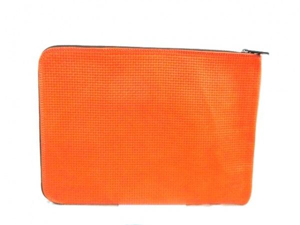 タスティング バッグ 美品 オレンジ×ダークブラウン レザー 3
