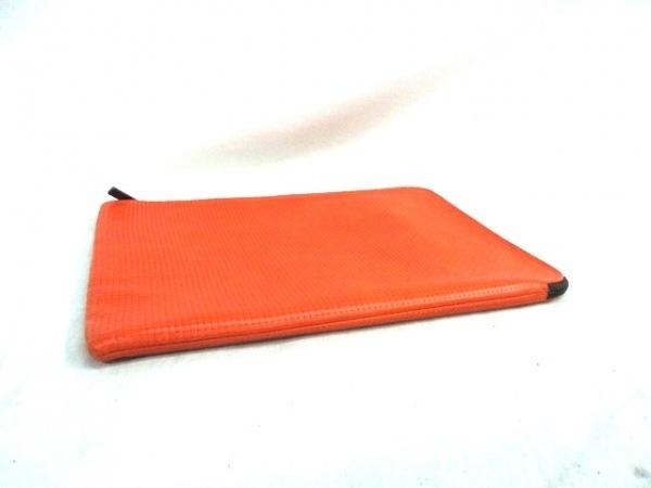 タスティング バッグ 美品 オレンジ×ダークブラウン レザー 4