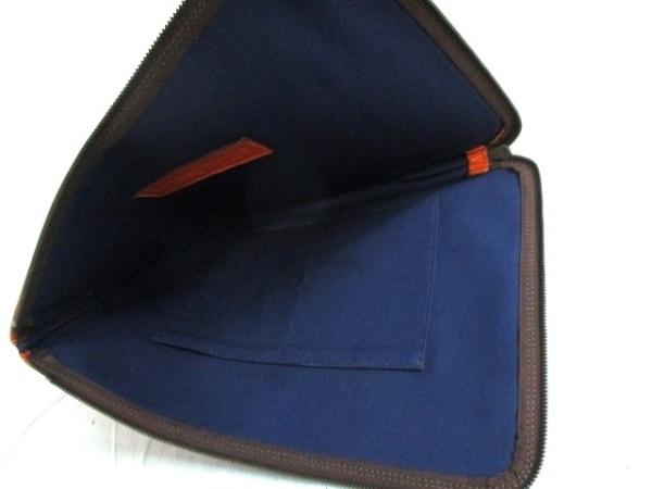 タスティング バッグ 美品 オレンジ×ダークブラウン レザー 5