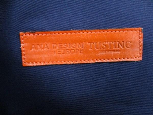 タスティング バッグ 美品 オレンジ×ダークブラウン レザー 6