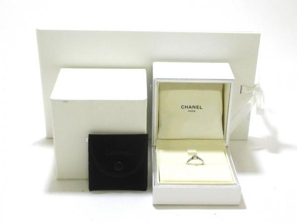シャネル リング 美品 マトラッセ Pt950×ダイヤモンド CHANEL 7